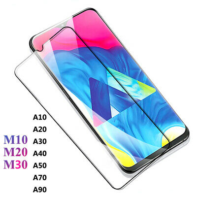9H Full Cover Tempered Glass Screen Protector for Samsung Galaxy M10 M20 A30 A50