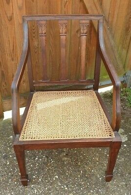 19th Century Bergere Armchair. Antique French Empire Bergere Saloon Chair.