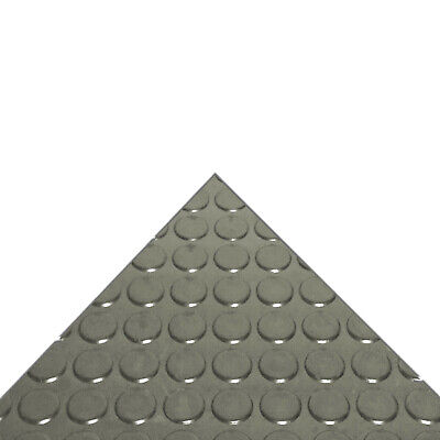 Penny Coin Round Dot Studded Rubber Flooring Garage Sheeting 3MM THICK GREY
