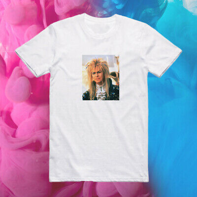 The Labyrinth David Bowie as Jareth the Goblin King SG02 Unisex White Tee