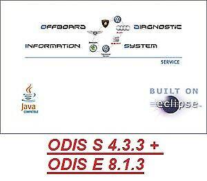 ODIS S 4.3.3 + ODIS E 8.1.3 Latest VW AUDI SEAT SKODA VMware Version March 2018