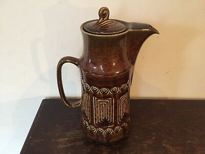 "SYLVAC Pottery #4202 - Brown ""TOTEM"" - Large COFFEE POT"