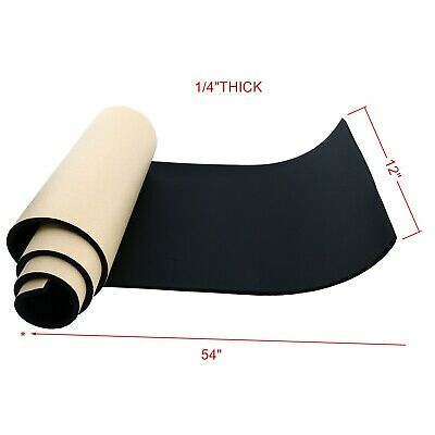 "1/4""x 12"" x 54"" Neoprene Sponge Foam Rubber Sheet Roll w/ Adhesive Foam Rubber"