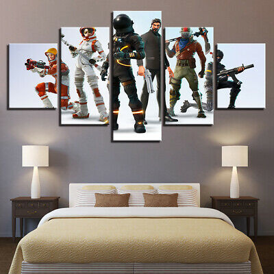 Home Decor Fortnite Games Characters Canvas Prints Painting Wall Art Poster 5PCS
