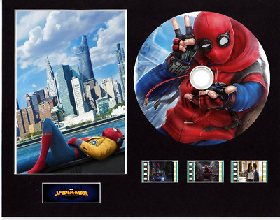 Spiderman Homecoming film cells 10x8 mounted with CD & 3 cells 11 cd images