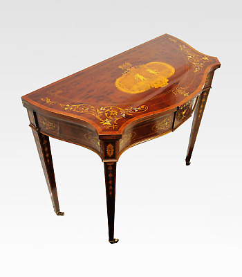 A Quality Victorian Mahogany & Inlaid Card / Games Table By Edwards & Roberts