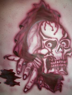 A4 High Airbrush Stencil Skull Zombies Template Steps Paint Craft Car Bike Spry