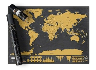 New Scratch Off World Map Deluxe Edition