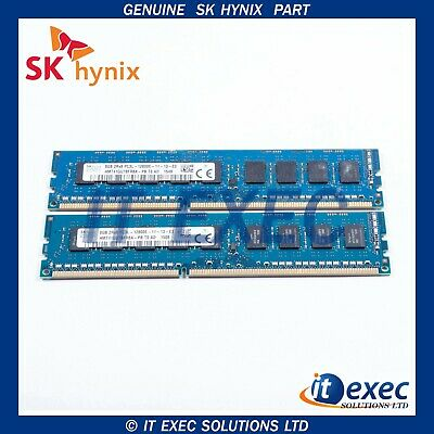 SK HYNIX 16GB X2 8GB DDR3 1600 PC3L-12800E ECC Unbuffered RAM 12800E PC3L 2Rx8