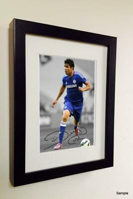 Signed Autographed Diego Costa Chelsea Photo Picture Frame Memorabilia 1