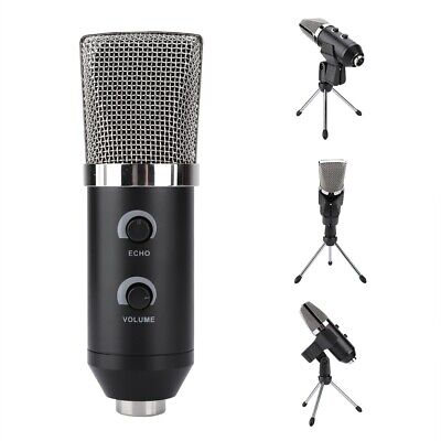 3.5mm Wired USB Condenser Microphone Studio Recording Mic Audio Stand Mount Kit