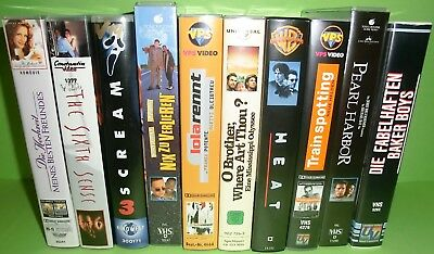 10 Stück VHS-Kassetten Sammlung / Konvolut (Heat, Scream 3, The Sixth Sense,...)