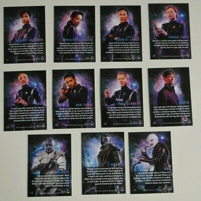STAR TREK DISCOVERY Character Cards 11 Card Chase Set