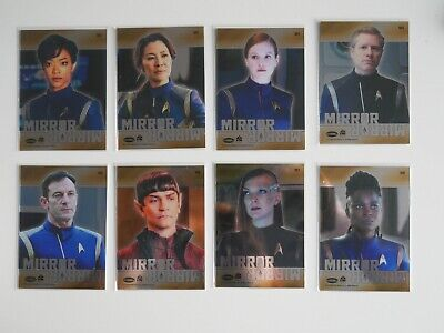 Star Trek Discovery Complete 8 Card Mirror Mirror Chase Set Very Rare!!!