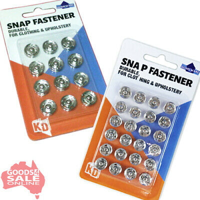 Choose Sew On Snap Fasteners Press Studs 10mm or 12mm for Clothes and Upholstery