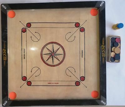 "30""x 30"" Big Tournament Carrom Board with Carrom Coin & Striker & 2 Inch Border"