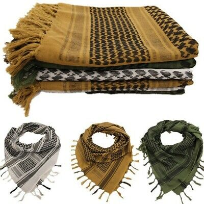 Military Army Shemagh Tactical Desert Keffiyeh Scarf 100% Cotton Scarves Mens
