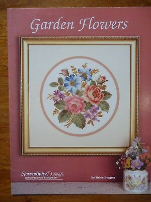 Serendipity Designs Cross Stitch Patterns - Garden Flowers - By Helen Burgess