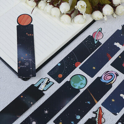 30Pcs/Set Planet Bookmark Message Card Creative Galaxy Paper Bookmarks EP