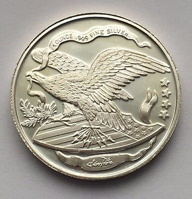 Liberty Eagle Silvertowne Mint One Troy Ounce .999 Fine Silver Round
