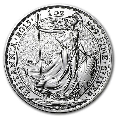 2015 Great Britain Britannia 2 Pounds 1 Oz Silver Coin