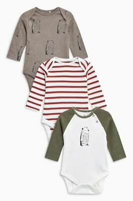 Next Baby Girl/Boy Pack of 3 Bear Print Bodysuits Up To 1 Month BNWT!!