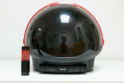 Philips Tv 1981 Discoverer Vintage Space Age Helmet Nasa Sottsass Atari Ex Cond