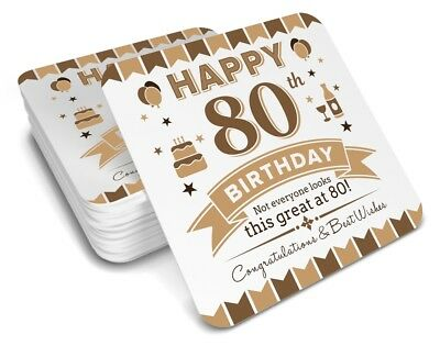 80th Birthday 1938 Happy Present Gift Idea For Men Him Male Keepsake Coaster
