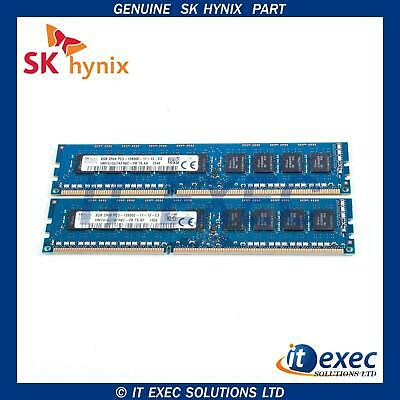 SK HYNIX 16GB X2 8GB DDR3 1600 PC3-12800E ECC Unbuffered RAM 12800E PC3 2Rx8