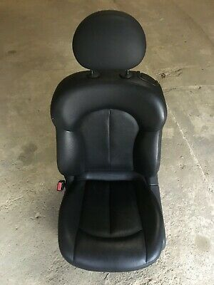 Mercedes Benz Mb Clk W209 02-09 Cabriolet Front Left Side Leather Seat In Black