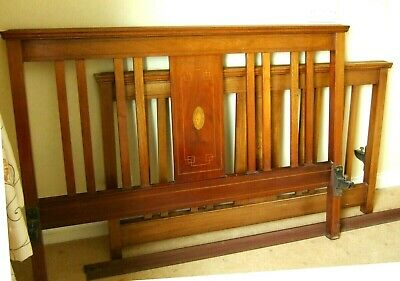 Antique Double Bed Frame Mahogany with side irons ~Delivery Available~