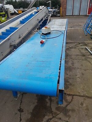 belt conveyor with a roller infeed/outfeed heavy duty