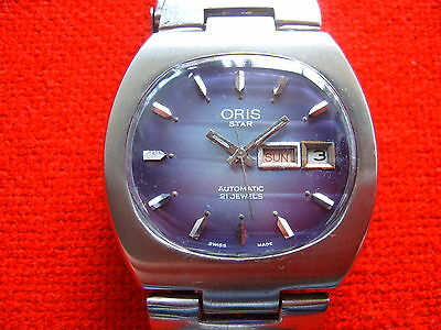 RARE Vintage Swiss Made WristWatch ORIS Star 21 Jewels  Automatic 648 For REPAIR