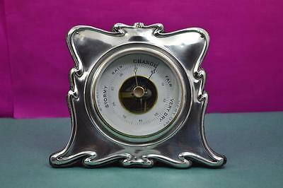 Antique Sterling silver Art Nouveau  Barometer working W.H.Leather 1904