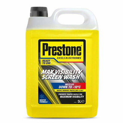 PSCW0029A 5L Screen Wash Max Visibility 5 Litre Ready Mixed -10C Winter Prestone