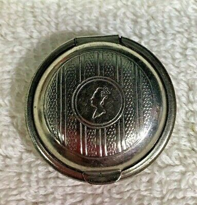"""Vintage Tiny Armand Powder or Rouge Compact 1 1/4"""" Silvertone So Tiny D1"""