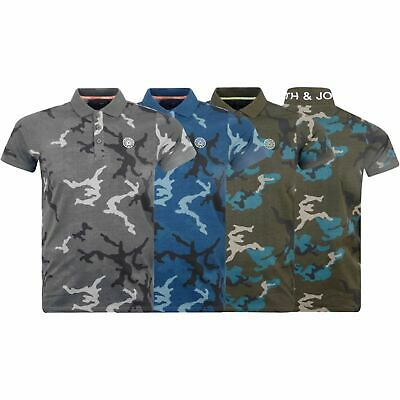 Mens Polo T Shirt Crosshatch Evangels Collared Cotton Short Sleeve Casual Top