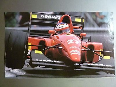 1993 Jean Alesi's Ferrari F92A F1 Race Car Picture Poster RARE!! Awesome L@@K