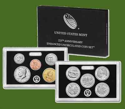 2017 S U.S. MINT 225th Anniversary Enhanced Uncirculated Coin Set 17XC