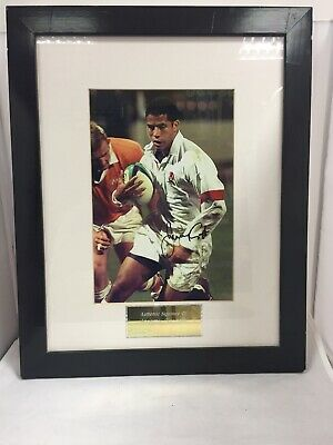 JEREMY GUSCOTT England Rugby Autograph Hand signed Framed Print Authenticated