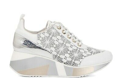SCARPE DONNA CAFENOIR DH423 sneakers bianche in pizzo