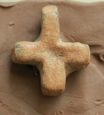 Ancient Roman  Bronze Cross  L=35x28x12mm 45gr rare