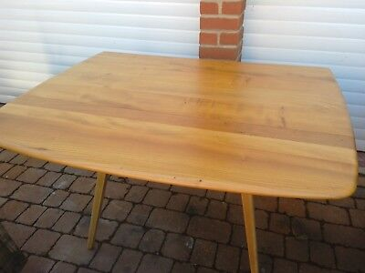 Ercol Elm And Beech Windsor Drop Leaf Kitchen Dining Table