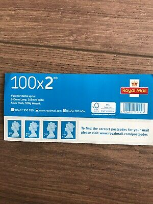100 X 2nd Class Postage Stamps NEW GENUINE Self Adhesive GB UK FAST POST Second
