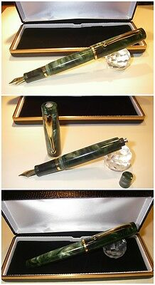 Celluloid Duo Green Blancheur Fountain Pen  - Stylo Hand Made