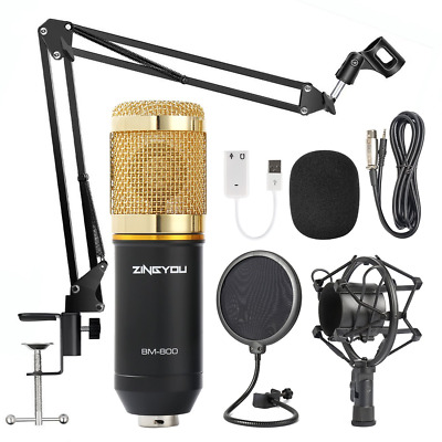 ZINGYOU Condenser Microphone Kit, BM-800 Mic Set with Adjustable Mic Suspension