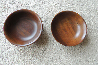 Vintage Margaret Studios Inc.Murphy NC Carolina 2 Wood bowl  small cereal 5 3/4""