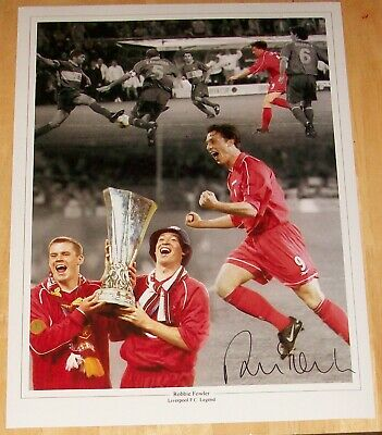 Robbie Fowler Liverpool Montage  Personally Signed Autograph 16X12 Photo