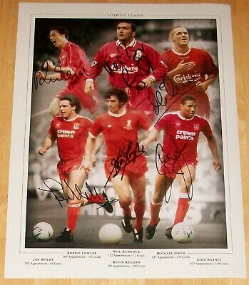 Liverpool Legends X6 Liverpool Montage  Personally Signed Autograph 16X12 Photo