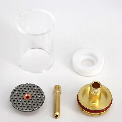 Flared Pyrex Cup TIG Welding Gas Saver Kit for Wp17 18 26 Torches Fluted 3/32''